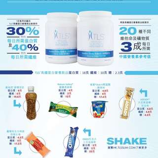 TLS 高纖維營養蛋白粉 *增肌*減重