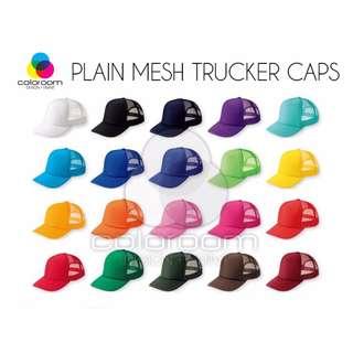 PRINTING SUPPLIES Plain Mesh Trucker Caps