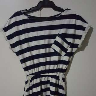 Mini Stripped Dress