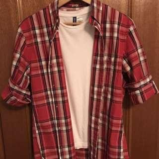 J. Crew Red Plaid Dress Shirt