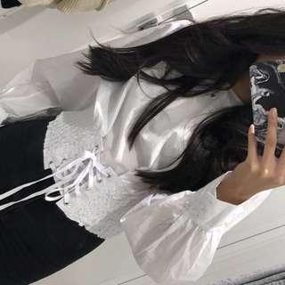 White stylish top size 8