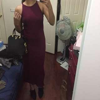 Bnwt maroon dress
