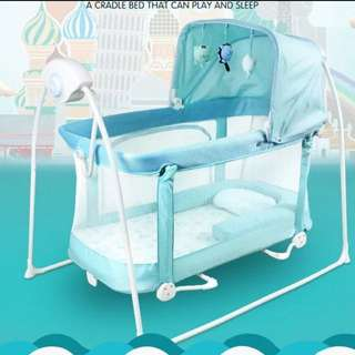 Automatic Cradle Shaker Baby Cot Play Pen