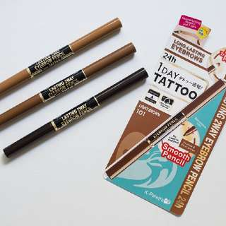 Brand New K-Palette 2 Way Eyebrow Pencil Light Brown