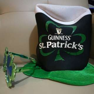 Guinness St. Patrick's Tall Party Hat and Glasses