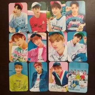 [PO] WANNA ONE 1x1=1 MINI ALBUM INSPIRED CARDS