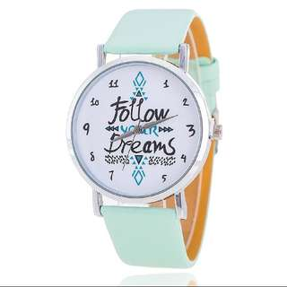 Mint Green Ladies Watch