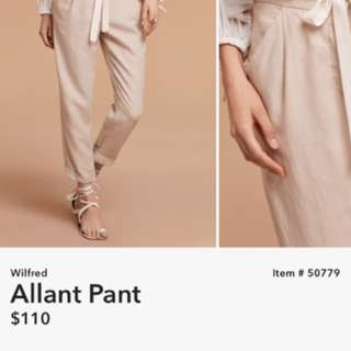 Wilfred Allant Pant size 0