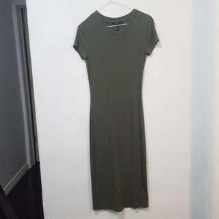 f21 olive maxi dress