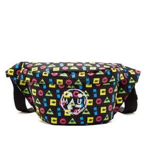 Maui and Sons Printed Twister Elements Belt Bag- Black
