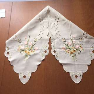 Greek Linen Hand Embroidered Table Runner