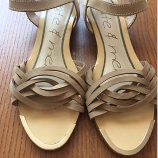 Kate and Mel Leather Sandals - Size 11