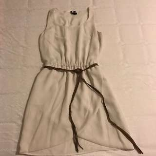 Mango Dress Broken White, Fit to M