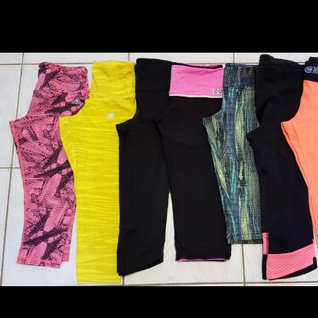 6 X Bulk Lot Tights Activewear Small 8