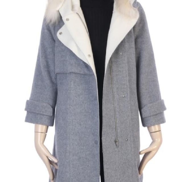 88%wool 12%angora grey coat