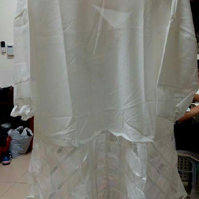 白色雪紡七分袖