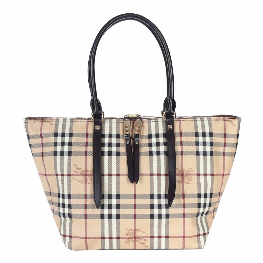 #調降 出清 Burberry 經典格紋手提 肩包水餃包 大容量簡約設計
