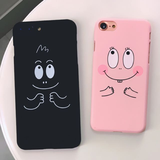 預購 Barba papa泡泡先生iPhone5,5S,SE/6,6S/6plus,6splus/7/7plus手機磨砂硬殼(上下不包)