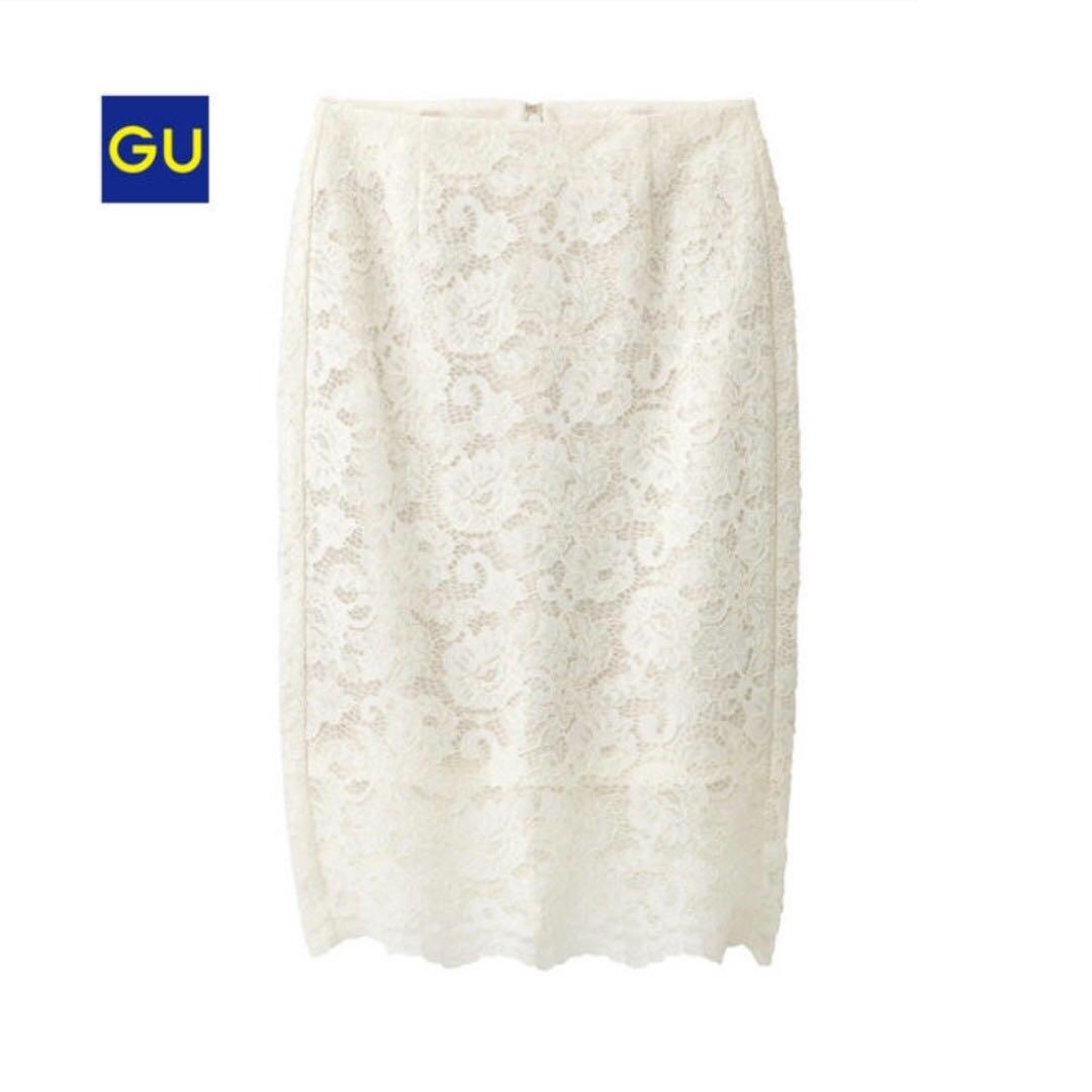 ***全新轉賣***  GU 白色蕾絲裙吊牌未拆(可詢問免運方式)