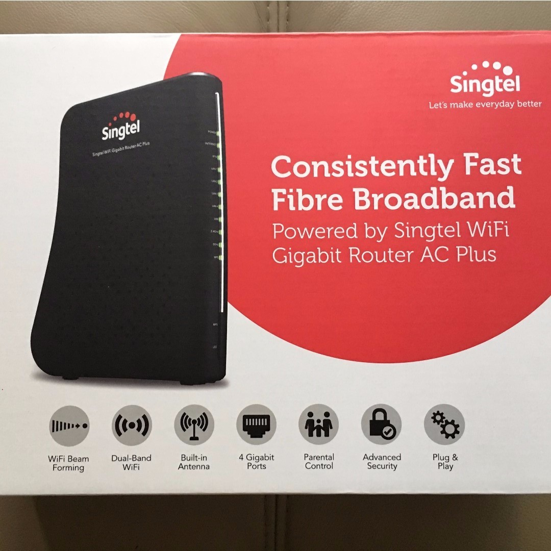 Brand New in Box, AC Plus Wifi Gigabit Router (Singtel)