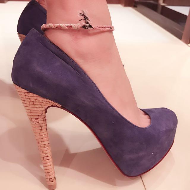 Aldo寶藍色👠高跟鞋