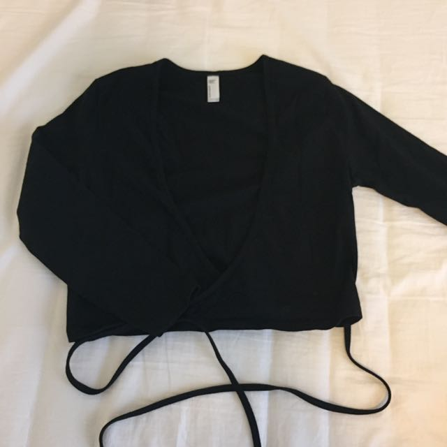 American Apparel Black Julliard top