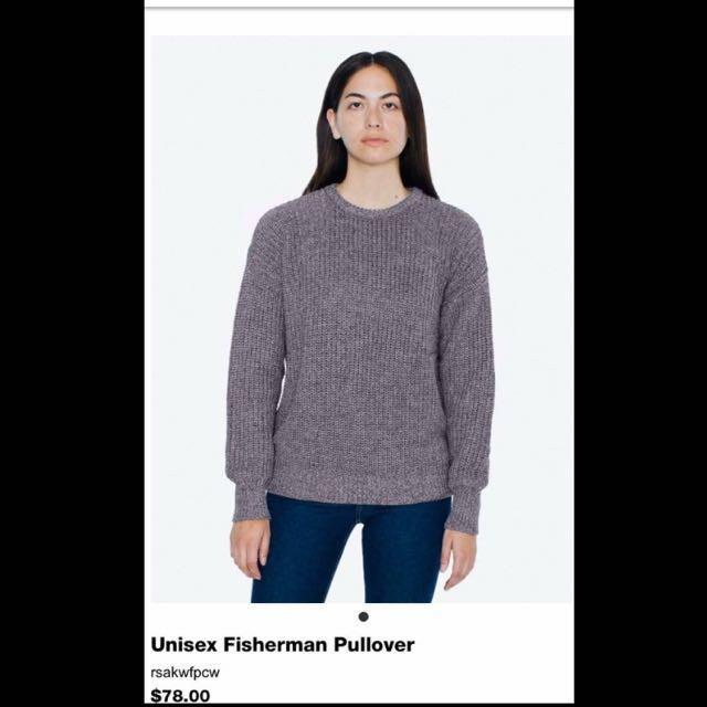 American Apparel Fisherman Pullover