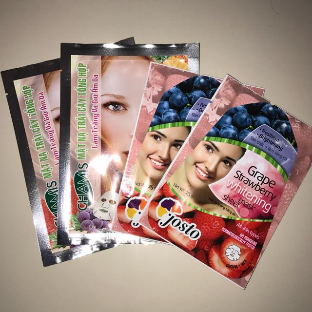 Assorted Fruit Scented Whitening Face Mask
