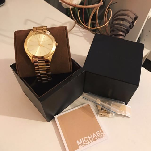 💯Authentic Michael Kors Gold Watch