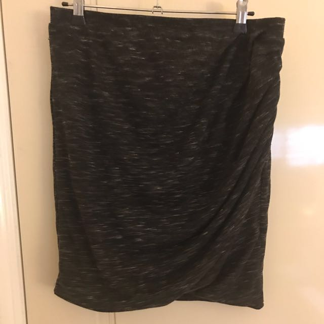 Bardot charcoal skirt