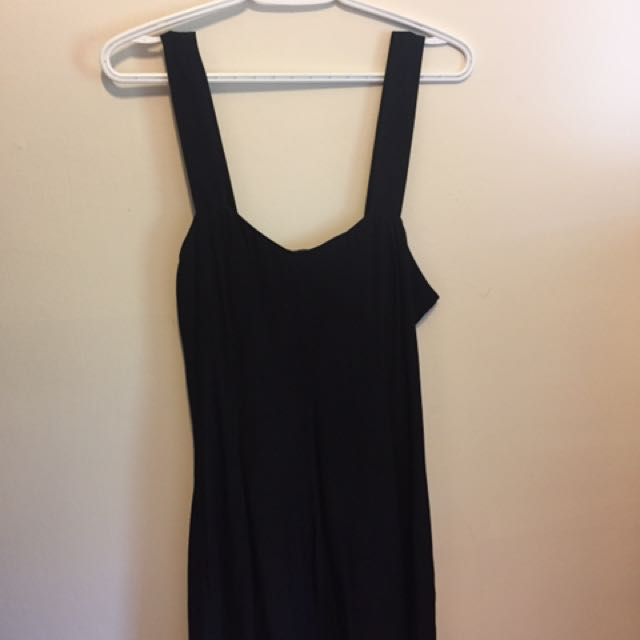 Black adjustable mini dress (Forever 21)