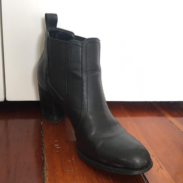 Black booties - size 8
