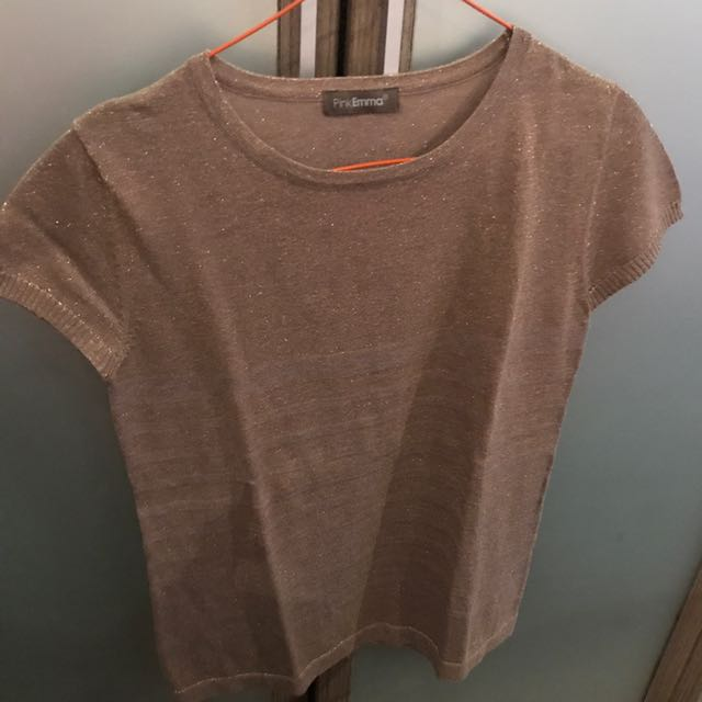 brown glitter shirt