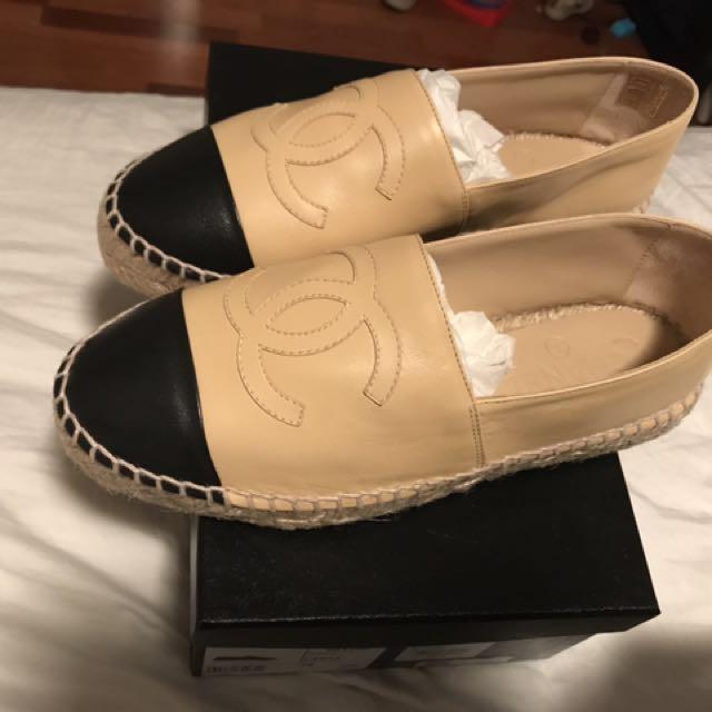 Chanel shoes espadrilles size 36