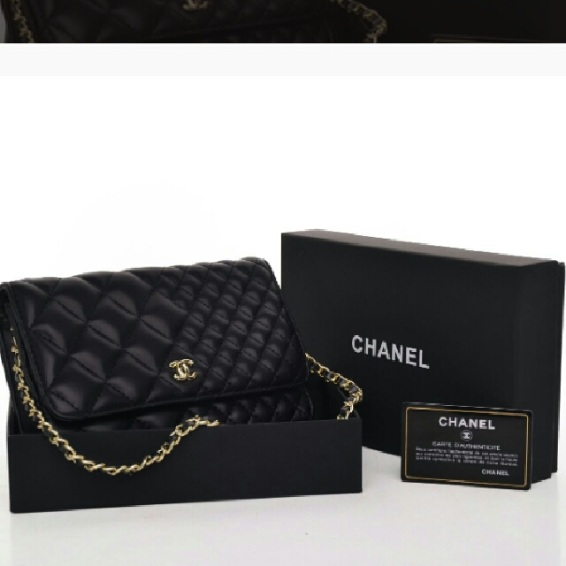 Chanel WOC Lambskin New Quilted Hitam Seprem