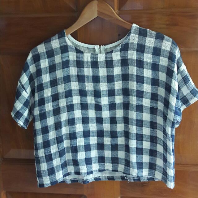Checkered Blouse (SEMI-CROP)
