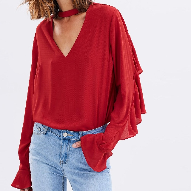 Choker Style Top Red