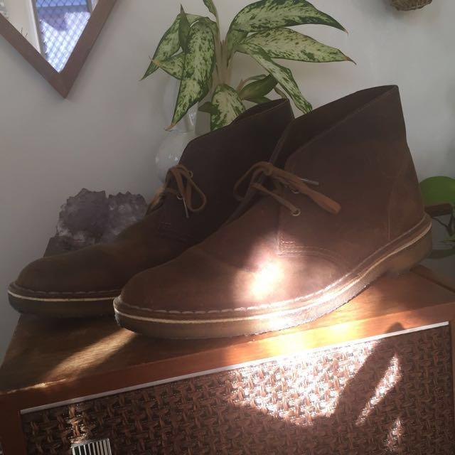 Clarks brown desert boots AU9.5