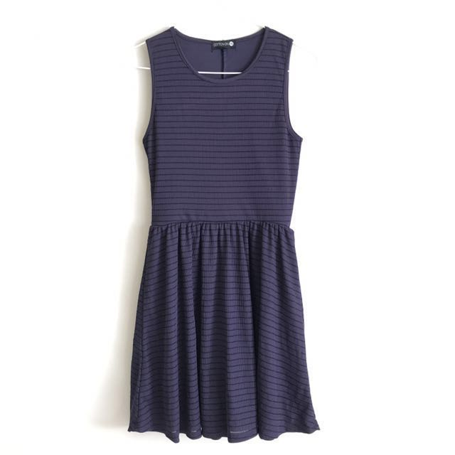 Cotton On Navy Blue Ribbed Dress