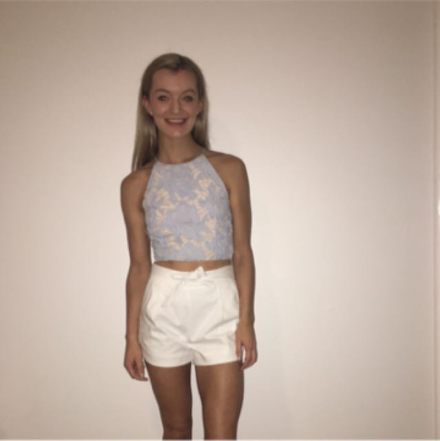 Crop and shorts outfit