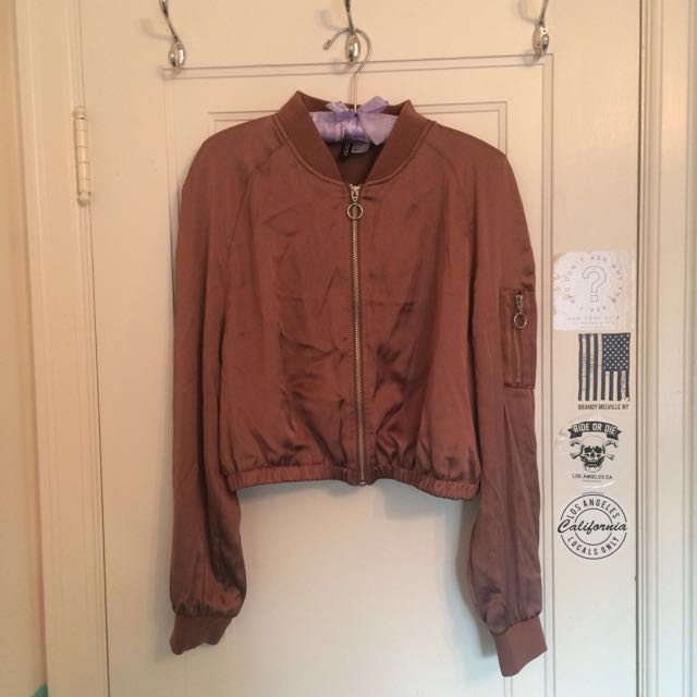 Cropped Copper H&M Bomber