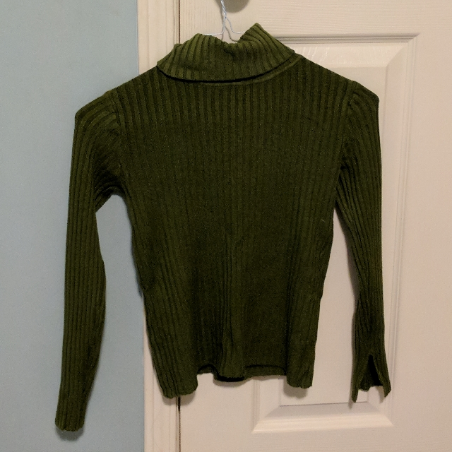 Cute Vintage Ribbed Cropped Sweater