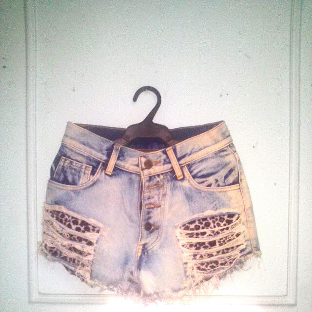 Denim High Waist Short #GarageSale