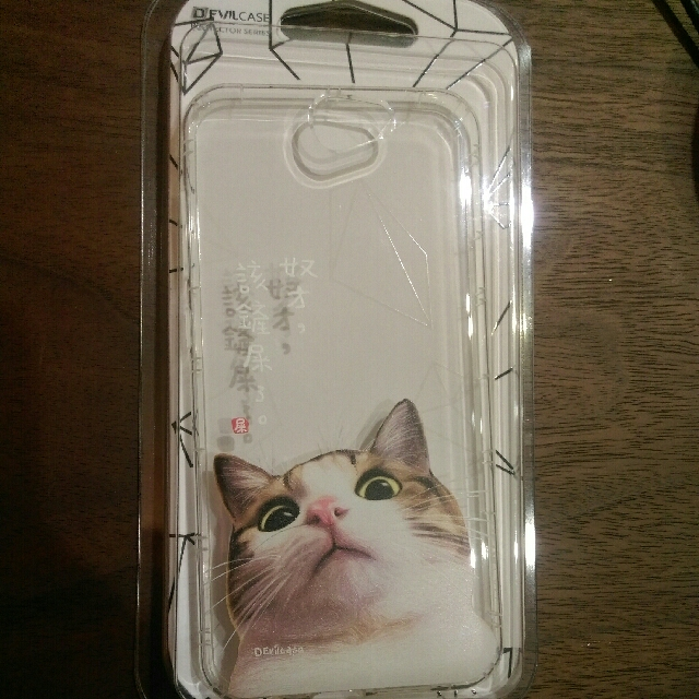 devil case HTC A9 透明抗衝擊手機軟殼 貓咪