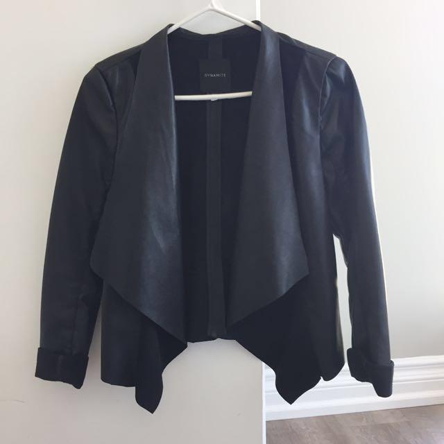 Dynamite black leather blazer/jacket XS