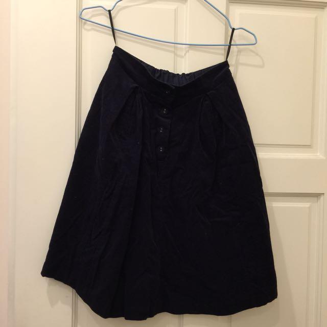 便宜售💰E hyphen 深藍色A字裙