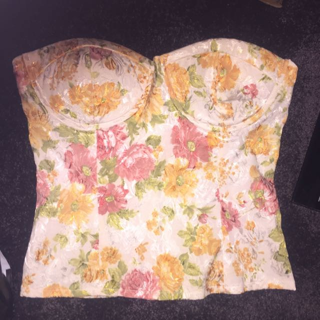 Floral Bustier Strapless
