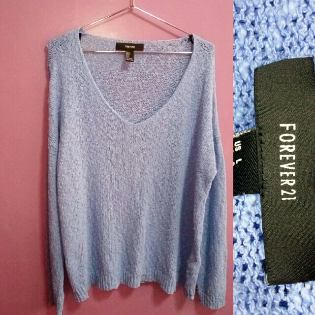 Forever 21 Knit Sweater in Blue