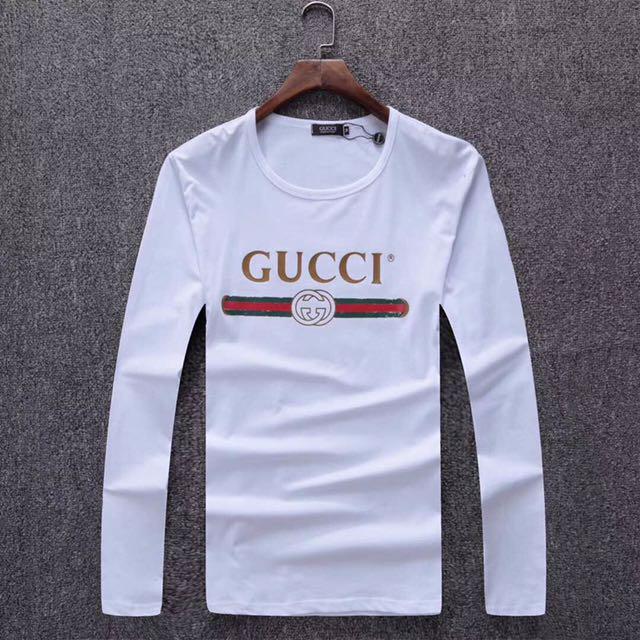 b84179790c52 Gucci Long Sleeve Tshirt 2017, Men's Fashion, Clothes, Tops on Carousell