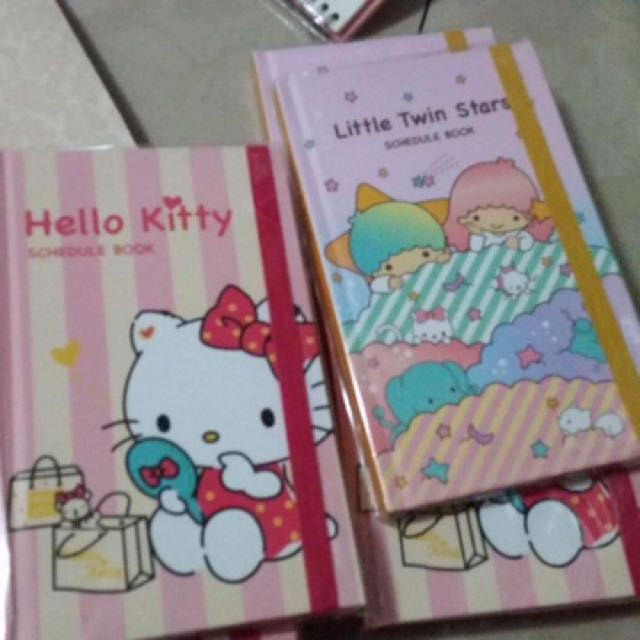 Hello kitty And My Little Twin Stars Schedule Book
